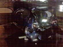 This car was stopped at at a red light at Six Forks and Saw Mill roads early Saturday, March 13, 2010, when a Mazda sedan rear-ended it, killing one person.