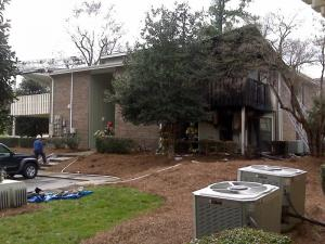 A March 18, 2010, fire damaged two units at the Montecito Apartments complex in north Raleigh, but no one was injured.