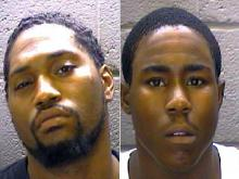 Quinton Maurice Hinton, left, and Derrie Stephen Smith