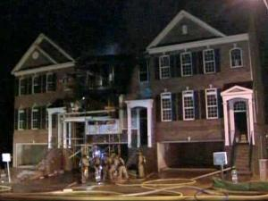 A fire broke out in the middle townhome of a three-unit building at 8600 Macedonia Lake Drive in the Creekside at Tryon Village subdivision around 4:30 a.m. March 26, 2010.