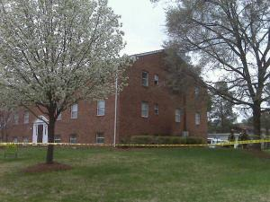 A fire was reported Sunday, March 28, 2010, at the Hamlett Arms Apartments in Raleigh.