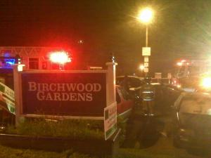 Raleigh fire officials say a charcoal grill on a back porch caused a fire at Birchwood Gardens.