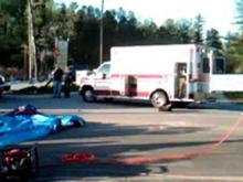 Raw video: Three injured in Youngsville wreck