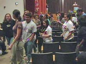 Student groups on Monday, April 26, 2010, protested a second speech by former Congressman Tom Tancredo at the University of North Carolina at Chapel Hill.