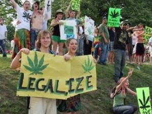 Supporter of legalizing marijuana rally outside the State Capitol in Raleigh as part of the 2009 Raleigh Marijuana Rally, March and Free Music Festival. (Photo courtesy of Facebook)