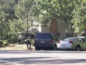 Investigators looked for evidence after Thurman Jerome Jones, 33, was killed during an apparent robbery inside a home at 4765 N.C. Highway 42 in New Hill early Saturday, May 8, 2010, authorities said.