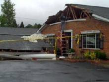 Raw video: Truck runs into Carrboro assisted living facility