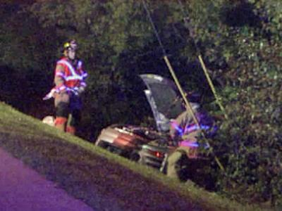 An 18-year-old was in serious condition after crashing on Davis Drive in Cary.