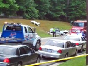 Authorities investigate a fatal two-vehicle traffic accident Tuesday afternoon on N.C. Highway 54,  near Mandy Court in Durham.
