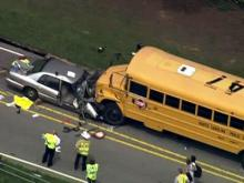 Sky 5 coverage of Holly Springs school bus wreck