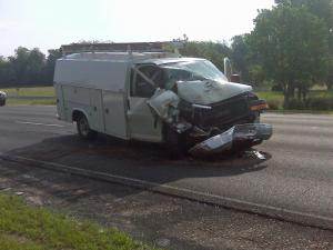 Authorities were investigating a four-vehicle crash at Poole Road and Interstate 440 Thursday morning.