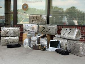 Agents with the North Carolina Division of Alcohol Law Enforcement on Friday, June 11, 2010, seized more than 200 pounds of marijuana near the Gaston and Lincoln County line.