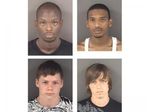 Four men face charges in a series of thefts from homes in the Gates Four and Tarlington communities