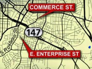 Durham police said that two people were injured in a shooting at 143 Commerce St., and a woman was found shot at East Enterprise and South Roxboro streets early Sunday, June 20, 2010.