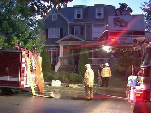 Lightning is also thought to have caused a fire at 10408 Bedfordtown Drive in Raleigh on Tuesday, July 0, 2010.