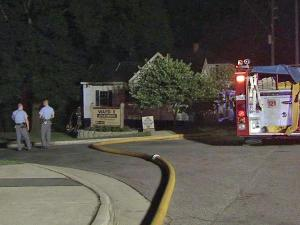 Firefighters battled a blaze at 1109 Garner Road in Raleigh on Saturday, July 31, 2010.