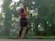 Barefoot runner bitten by snake