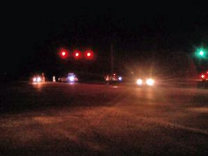 Sanford police respond Saturday evening, Aug. 7, 2010, to a fatal traffic accident on U.S. Highway 87 near Winstead Road.
