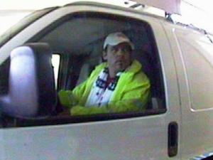 Durham police released this surveillance photo of a man who pulled into the drive-thru at First Citizens Bank at 7101 Fayetteville Road around 10 a.m. Thursday, Sept 2, 2010, and demanded $5,000 from the teller.