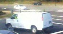 Durham police released this surveillance photo of a van involved in an attempted robbery at the First Citizens Bank at 7101 Fayetteville Road around 10 a.m. Thursday, Sept 2, 2010.