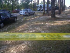 Authorities say they are investigating a shooting Friday afternoon on N.C. Highway 24/27 in Harnett County.