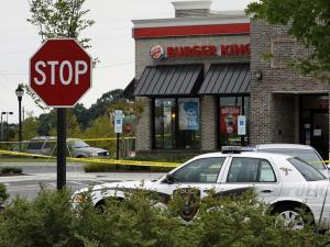 Police say the Burger King restaurant off G.B. Alford Highway in Holly Springs was robbed Saturday, Sept. 11, 2010. (Photo courtesy of Thomas Babb)