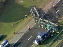 Sky 5 video of I-95 wreck near Dunn