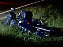 At least one person was killed in a wreck involving a motorcycle on Yates Mill Pond Road in Raleigh early Friday, Sept. 24, 2010, state troopers said.