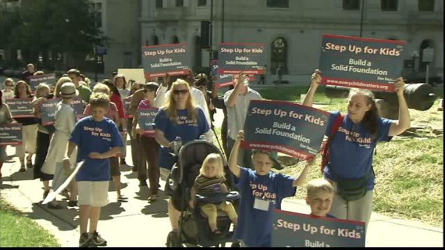 Action for Children North Carolina sponsored a rally at the state capitol Sunday.