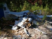 A small plane went down off Morganton Road in Moore County just before 2:30 p.m. Sunday.