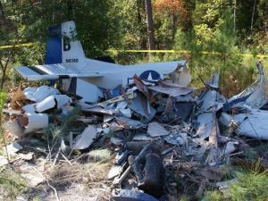 A small plane carrying one person crashed in Moore County Oct. 17, 2010.