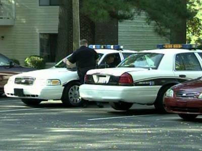 Cary police investigate a reported kidnapping and sexual assault at the Merriwood Apartments complex on Oct. 19, 2010.
