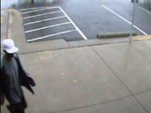A surveillance image shows the suspect in a Wake Forest bank robbery on Oct. 20, 2010.