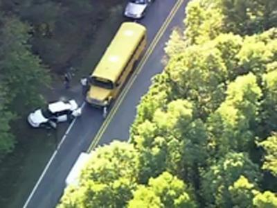 Police say a wreck involving a school bus occurred in Creedmoor on Nov. 2, 2010.