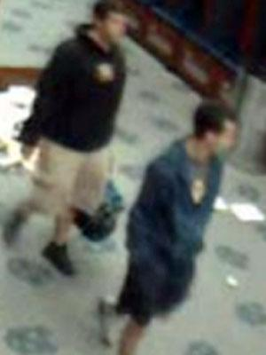 UNC Police are trying to identify these men wanted in connection with the Oct. 21, 2010, theft of equipment from Kenan Football Center.