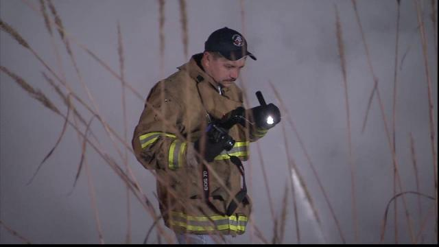 Firefighters responded to a burning abandoned home Monday in the Brogden community in Johnston County.