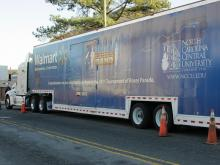 The truck will cross eight states to transport instruments, equipment, luggage and uniforms to the Rose Parade in California.
