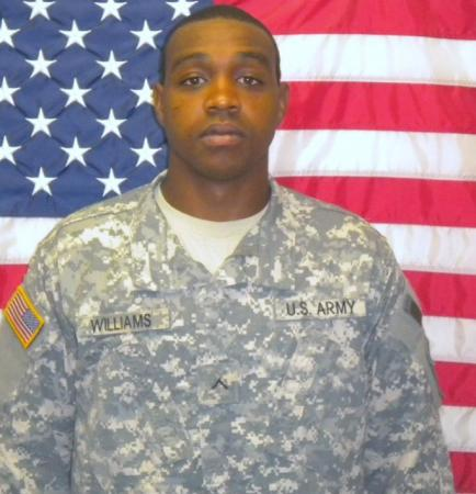 Pfc. Antonio E. Williams, 24, of Fayetteville, died in a wreck in Spring Lake on Thursday, Dec. 16, 2010.