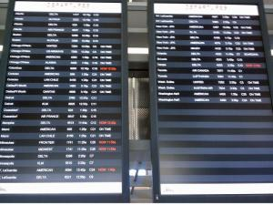 Only a few delays dotted departures at RDU Wednesday morning.
