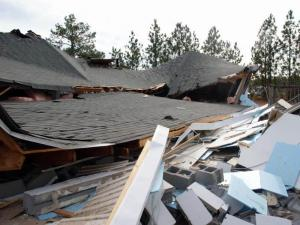 The roof of Covenant Christian Church in Vass collapsed on Jan. 20, 2011. (Photo courtesy of Frank Staples of Cypress Pointe Fire and Rescue)