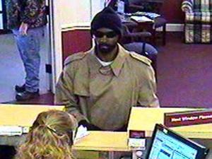 Roanoke Rapids police were searching for a man who robbed a Southern Bank branch on Jan. 27, 2011.