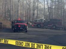 Flames ripped through the house at 11016 Eaglerock Drive in Raleigh, near the Durham County line, around 2 p.m. Authorities got the fire under control around 3:30 p.m.