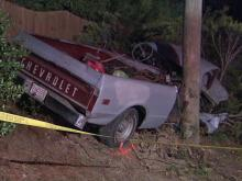 Cary police said that a driver lost control of a pickup truck along Holt Road, near Daleshire Drive, around midnight Wednesday, Feb. 23, 2011, then ran off the left side of the road and struck a power pole.