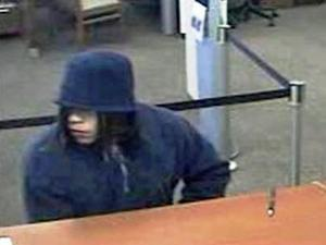 Police release this surveillance photo of a man who robbed a Wachovia bank at 300 Foushee St. on Wednesday, March 2, 2011.