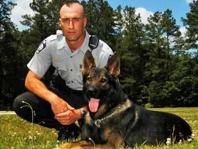 Wake Sheriff's Deputy Tom Hawley and Jet