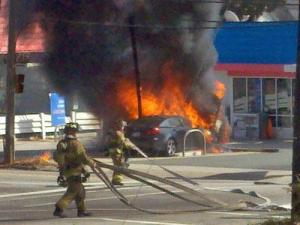 A Broughton High School student captured this image of a fire at a gas station on St. Mary Street in Raleigh on March 4, 2011.