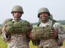 Master Sgt. Jamal H. Bowers with another soldier