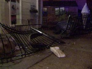 Police said that a driver ran off the road and hit a fence and a utility pole in front of an ice cream store at Glenwood Avenue and Whitaker Mill Road around 2:15 a.m. on Thursday, March 24, 2011.