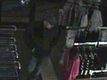 Police shared surveillance footage of a man who broke into the Sears store the Sears store at 3600 Memorial Drive in Greenville on March 20, 2011.
