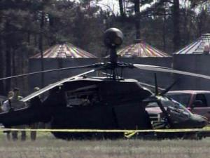 A military helicopter made an emergency landing in a field outside Linden on March 24, 2011.
